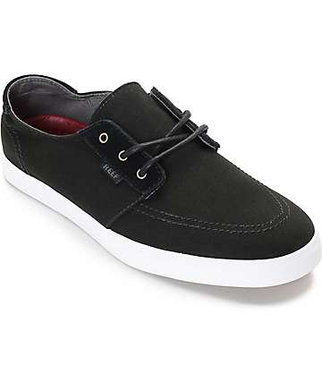 Reef Banyan Black & White Canvas Shoes