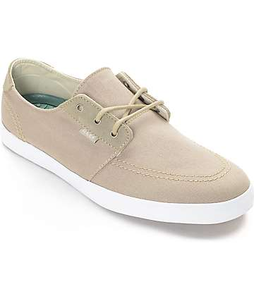 Reef Banyan Sand & White Canvas Shoes