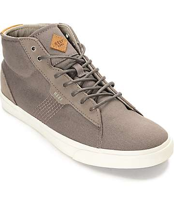 Reef Ridge Mid Slate White Canvas Shoes