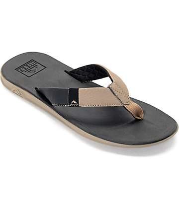 Reef Slammed Rover Black & Tan Sandals