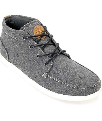 Reef Spiniker Mid Grey & White Wool Shoes