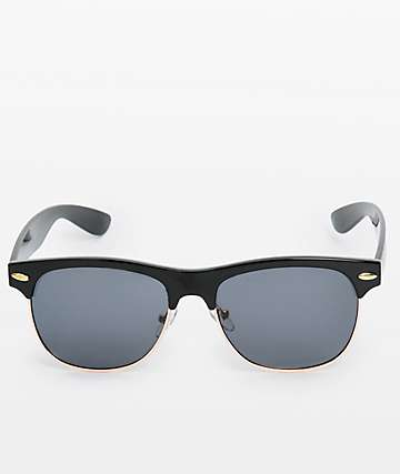 Retro Black & Gold Sunglasses