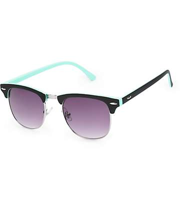 Retro Black & Mint Sunglasses