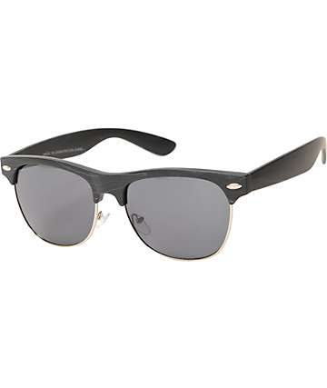 Retro Black Wood Sunglasses