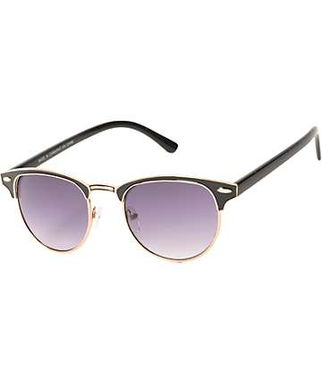 Retro Classic Black & Gold Sunglasses