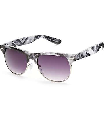 Retro Fractal Galaxy Sunglasses