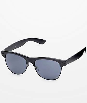 Retro Matte Black Sunglasses