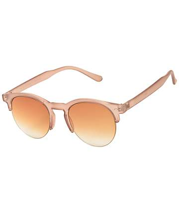 Retro Nude Crystal Sunglasses