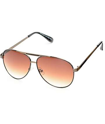 Revo Black & Gold Aviator Sunglasses