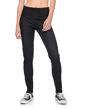 Rewash Lara Black Pull On Skinny Jeans