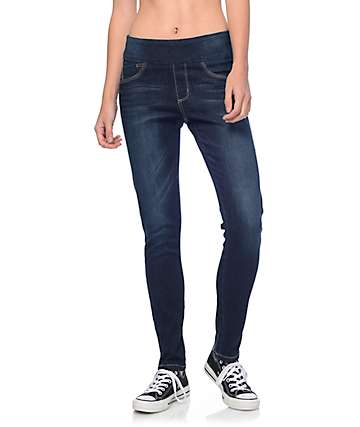 Rewash Lara Dark Wash Pull On Skinny Jeans
