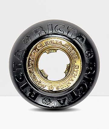 Ricta Nyjah Core 53mm 99a ruedas de skate en negro y color oro