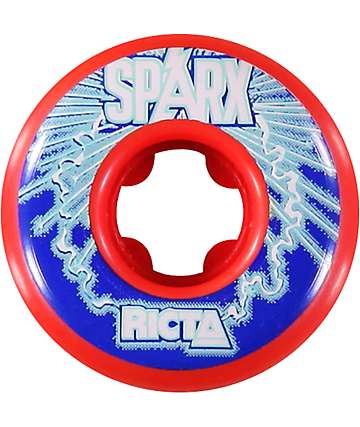 Ricta Sparx Red & Black 52mm Skateboard Wheels