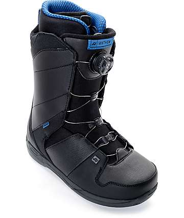 Ride Anthem Boa botas de snowboard en negro