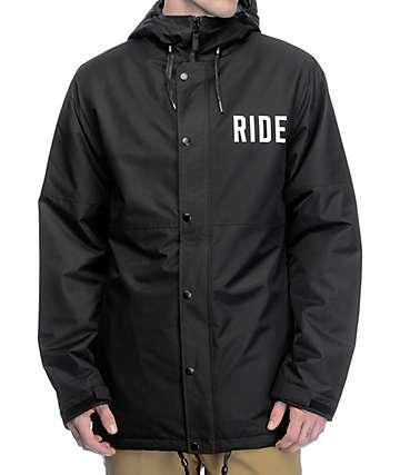 Ride x Sketchy Tank Burnout chaqueta tipo entrenador de snowboard 10K en color negro