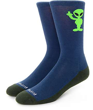 Rip N' Dip Fuck Peace Navy Socks