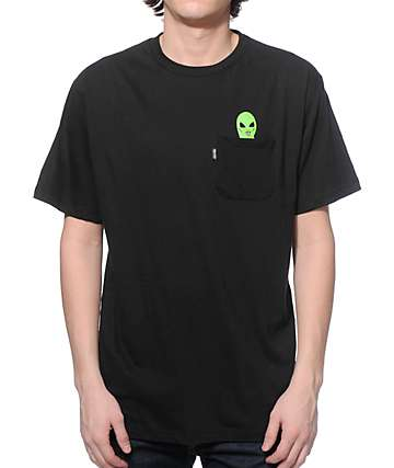 Rip N Dip Lord Alien Pocket Black T-Shirt