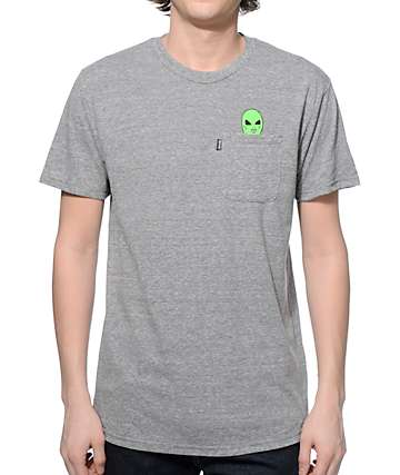 Rip N Dip Lord Alien Pocket Grey T-Shirt