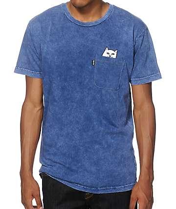 Rip N Dip Lord Nermal camiseta con bolsillo teñida