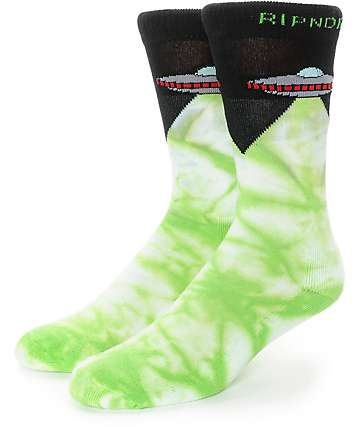 RipNDip Abduction Tie Dye Crew Socks