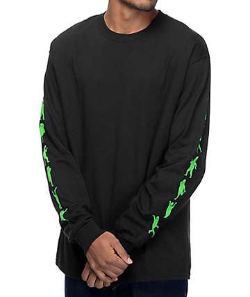 RipNDip Alien Dance Party Black Long Sleeve T-Shirt