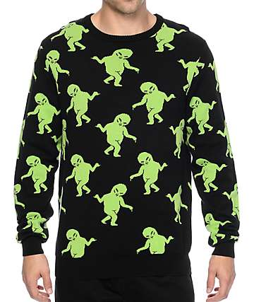 RipNDip Alien Dance Party Black Sweater