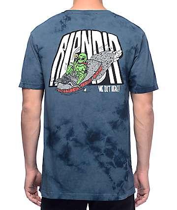 RipNDip Alien Fink Dark Blue Tie Dye T-Shirt