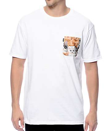 RipNDip All Over Nermal White Pocket T-Shirt