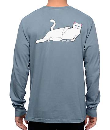 RipNDip Castanza Blue Long Sleeve T-Shirt
