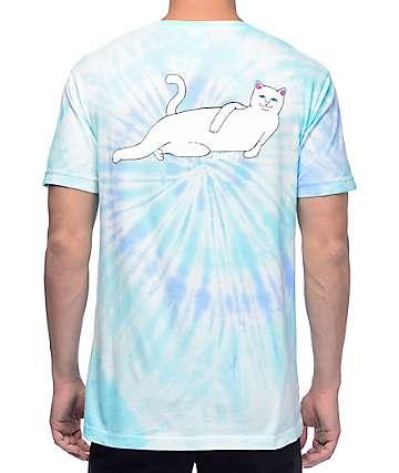 RipNDip Castanza Candy camiseta en teñido anudado azul claro