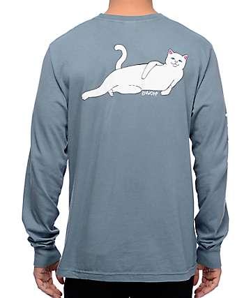 RipNDip Castanza camiseta azul de manga larga