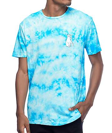 RipNDip Cats Blue Crystal Wash T-Shirt