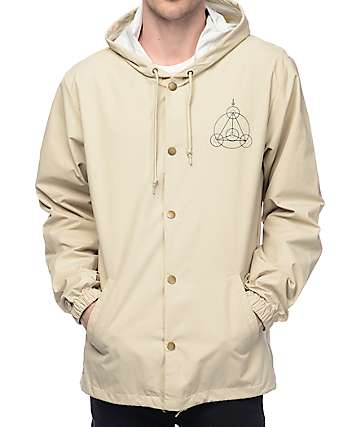 RipNDip Crop Circles Khaki Hooded Coach Jacket