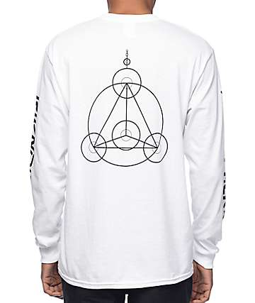 RipNDip Crop Circles White Long Sleeve T-Shirt