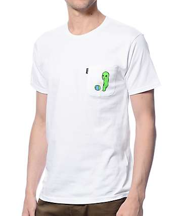 RipNDip Earth Sucks White Pocket T-Shirt