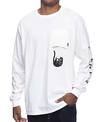 RipNDip Falling For Jermal Long Sleeve White T-Shirt