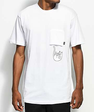 RipNDip Falling For Nermal White Pocket T-Shirt