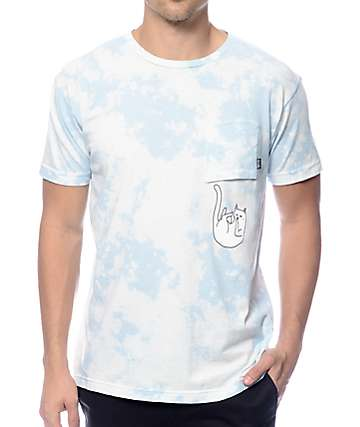 RipNDip Falling For Nermal camiseta con bolsillo teñida anudado cielo