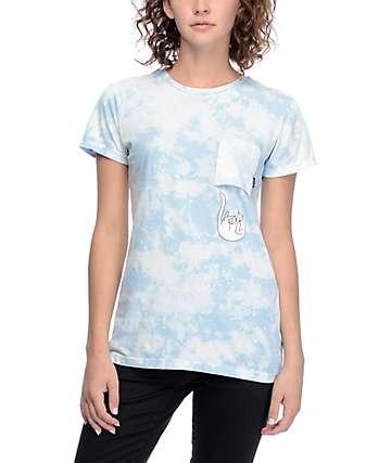 RipNDip Falling For Nermal camiseta en teñido anudado azul