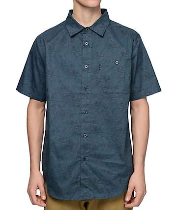 RipNDip Frida Nermal Dark Turquoise Button Up Shirt