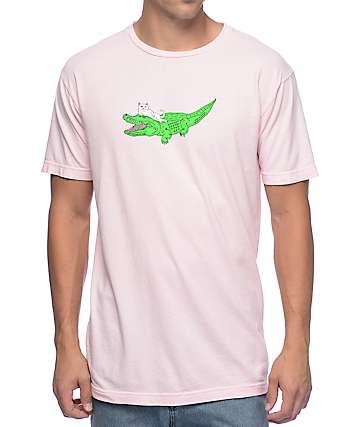 RipNDip Gator Nermal Pink T-Shirt