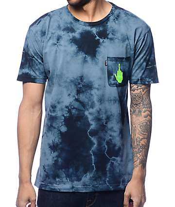 RipNDip Get The F Outta Here Blue Tie Dye Pocket T-Shirt