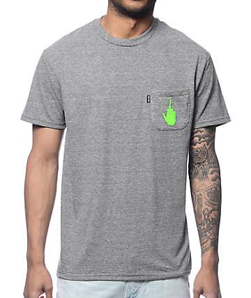 RipNDip Get The F Outta Here Grey Pocket T-Shirt