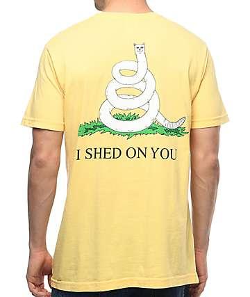 RipNDip I Shed On You camiseta en color amarillo