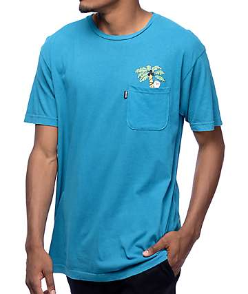 RipNDip Jungle Nermal Blue Pocket T-Shirt