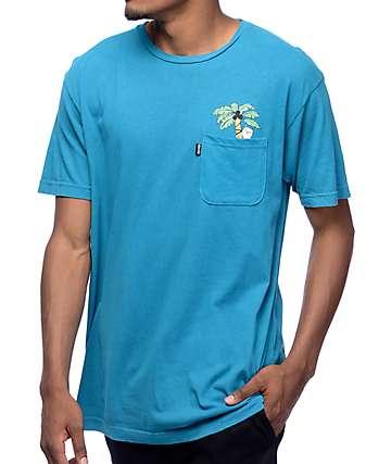 RipNDip Jungle Nermal camiseta azul con bolsillo
