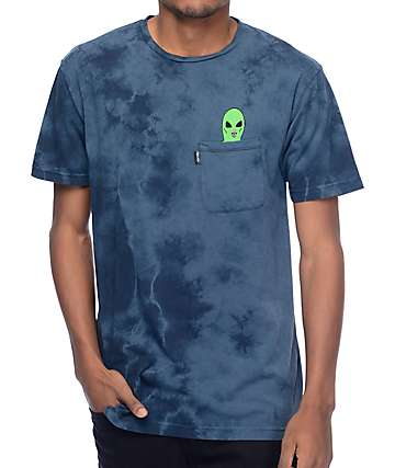 RipNDip Lord Alien Navy Wash Pocket T-Shirt