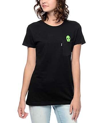 RipNDip Lord Alien camiseta negra con bolsillo
