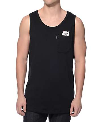 RipNDip Lord Nermal Black Pocket Tank Top