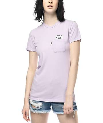 RipNDip Lord Nermal Lavender Pocket T-Shirt